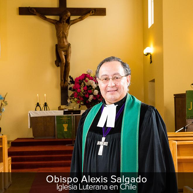Obispo Alexis Salgado Iglesia Luterana en Chile